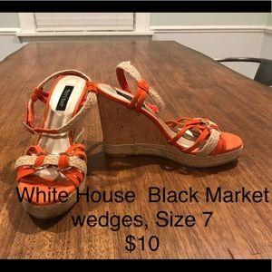 Shoes - Orange wedges